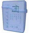 Flashcard Case - translucent plastic (PARA KANJI FLASHCARDS-CAPACIDAD 60 TARJETAS)