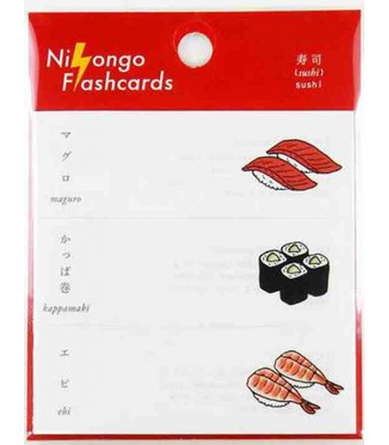 "Notas Adhesivas japonesas (post-it) ""Nihongo flanshcards"" - Sushi"